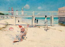 A Holiday in Mentone - Charles Conder