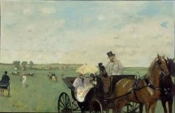 At the Races in the Countryside - Edgar Degas
