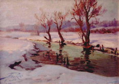 Creek in Winter - Arnolds Pankoks