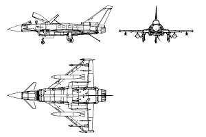 Eurofighter 3-view