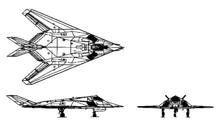 F-117A 3-view