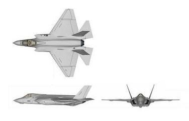 F-35C 3-view