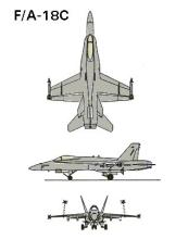 F/A-18C 3-view