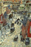 Flags on Fifty-seventh Street - Frederick Childe Hassam