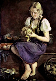 Girl in Kitchen - Wilhelm Hempfing