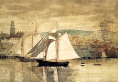 Gloucester Schooners and Sloop - Winslow Homer