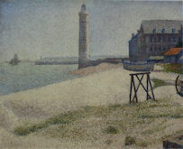 Hospice and Lighthouse at Honfleur - Georges Seurat