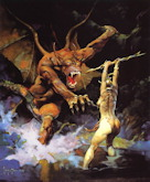 Huntress and the Beast - Frank Frazetta