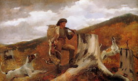 Huntsman and Dogs - Winslow Homer