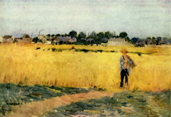 In the Cornfields - Berthe Morisot
