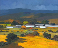 Landscape with Barns - Carlos Catasse