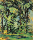 Large Trees at Jas de Bouffan - Paul Cezanne