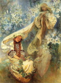 Madonna of the Lilies - Alphonse Marie Mucha