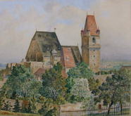 Perchtoldsdorf Castle and Church - Adolph Hitler