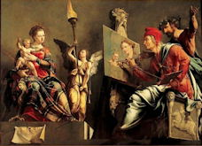 Saint Luke Painting the Virgin - Maarten van Heemskerck