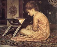 Study at a Reading Desk - Frederic Leighton