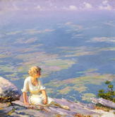 Sunshine and Haze - Charles Courtney Curran