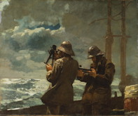 Taking Sights - Winslow Homer