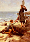 The Fishing Youths - Jules Bastien-Lepage