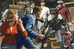 The Holdup - Mort Kunstler