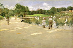 The Lake for Miniature Yachts - William Merritt Chase