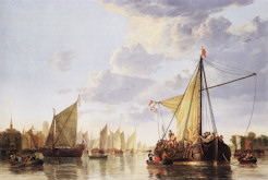 The Maas at Dordrecht - Aelbert Cuyp