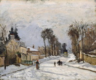 The Versailles Road at Louveciennes - Camille Pissarro